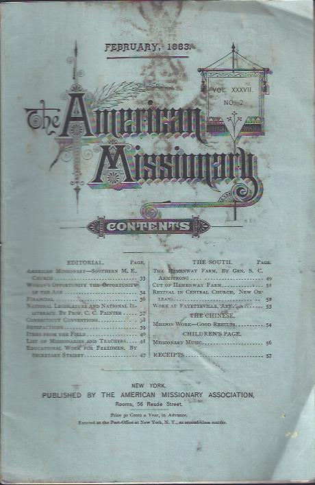 Image for The American Missionary, February, 1883
