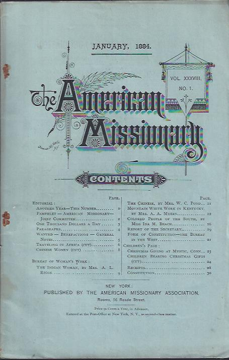 Image for The American Missionary, January, 1884