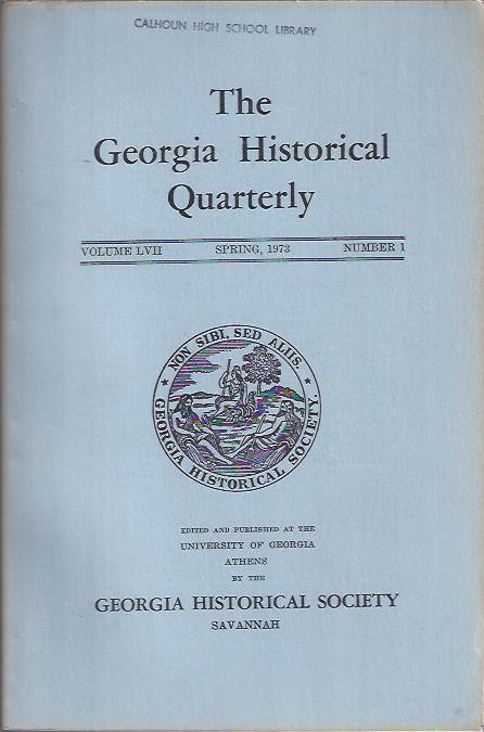 Image for The Georgia Historical Quarterly Spring, 1973