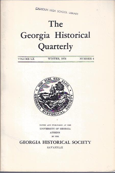 Image for The Georgia Historical Quarterly Winter, 1976