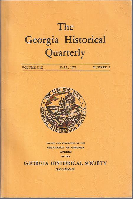 Image for The Georgia Historical Quarterly Fall, 1975