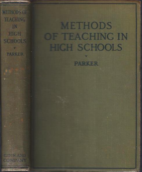 Image for Methods of Teaching in High Schools