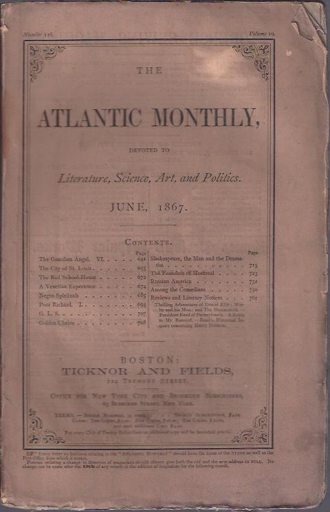 Image for The Atlantic Monthly, June, 1867