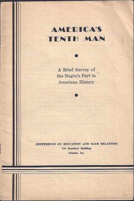 Image for America's Tenth Man : A Brief Survey of the Negro's Part in American History