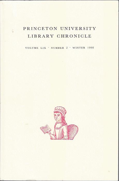 Image for Princeton University Library Chronicle, Winter 1998