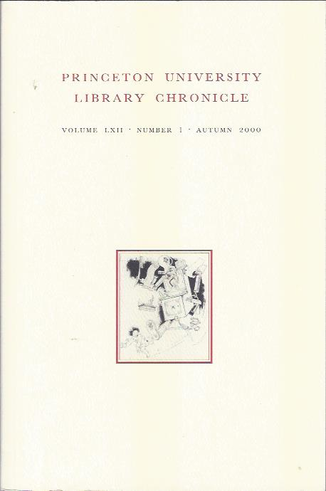 Image for Princeton University Library Chronicle, Autumn 2000