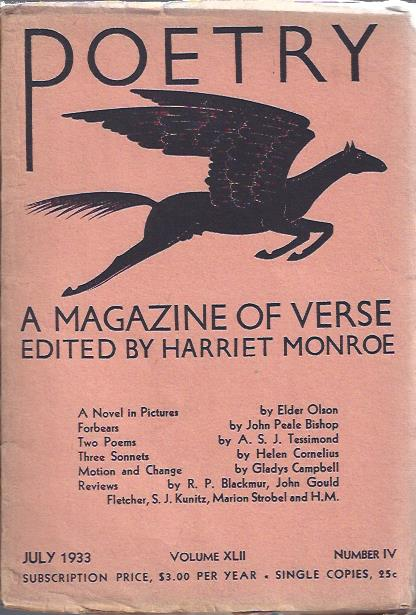 Image for Poetry: a Magazine of Verse July, 1933