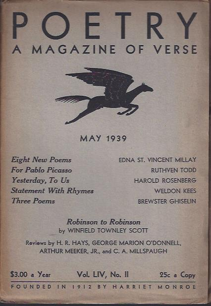 Image for Poetry, a Magazine of Verse May, 1939