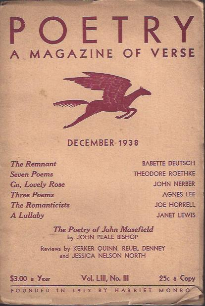 Image for Poetry, a Magazine of Verse December, 1938