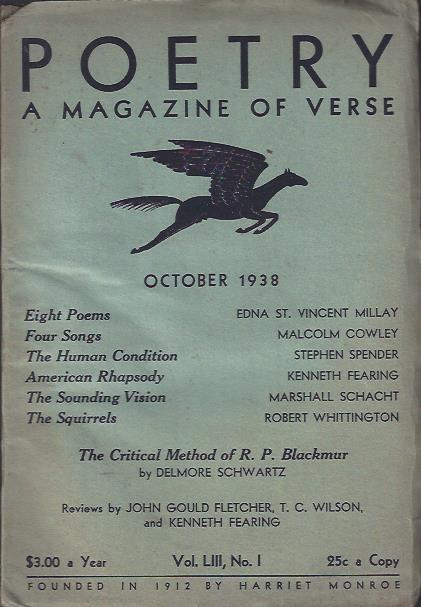 Image for Poetry, a Magazine of Verse October, 1938