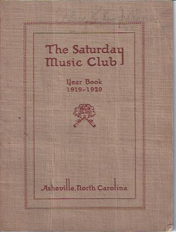Image for The Saturday Music Club, Year Book, 1919-1920