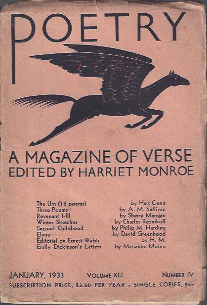Image for Poetry, a Magazine of Verse January, 1933