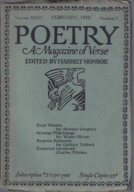 Image for Poetry, a Magazine of Verse February, 1930