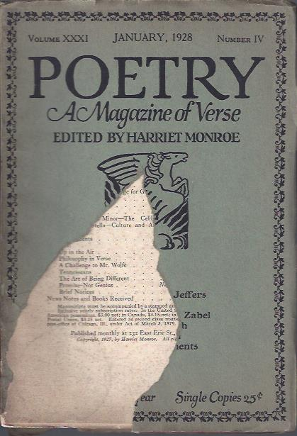 Image for Poetry, a Magazine of Verse January, 1928