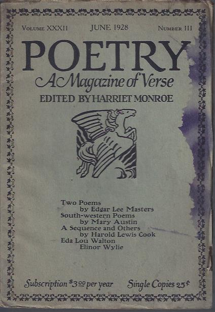 Image for Poetry, a Magazine of Verse June, 1928