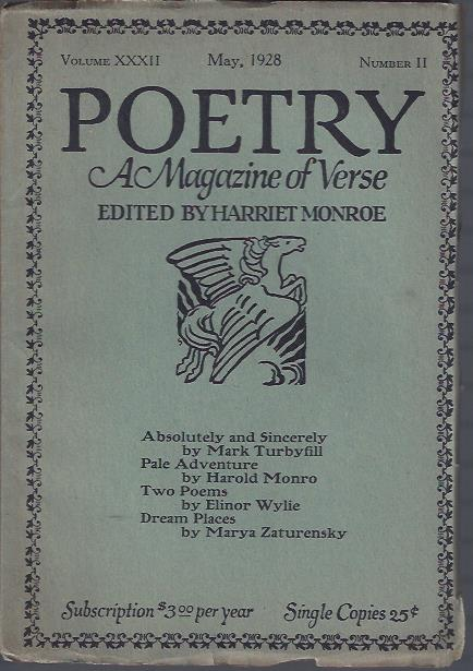 Image for Poetry, a Magazine of Verse May, 1928