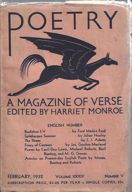 Image for Poetry, a Magazine of Verse February, 1932 : English Number