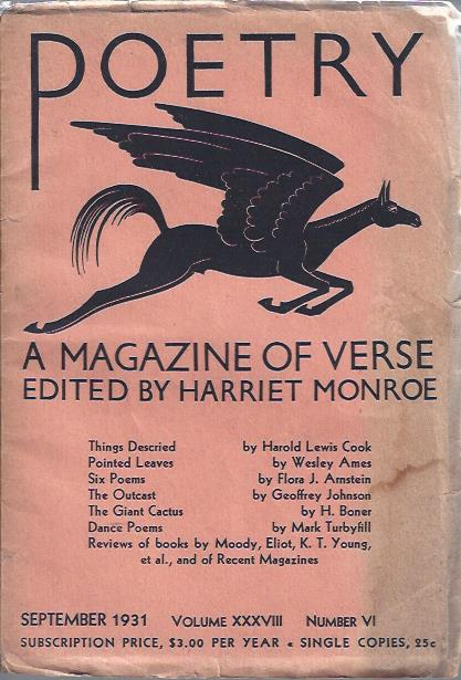 Image for Poetry, a Magazine of Verse September, 1931