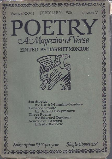 Image for Poetry, a Magazine of Verse February, 1926