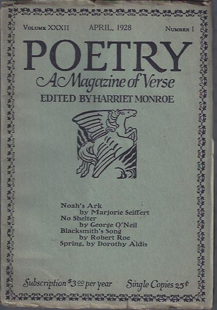 Image for Poetry, a Magazine of Verse April, 1926