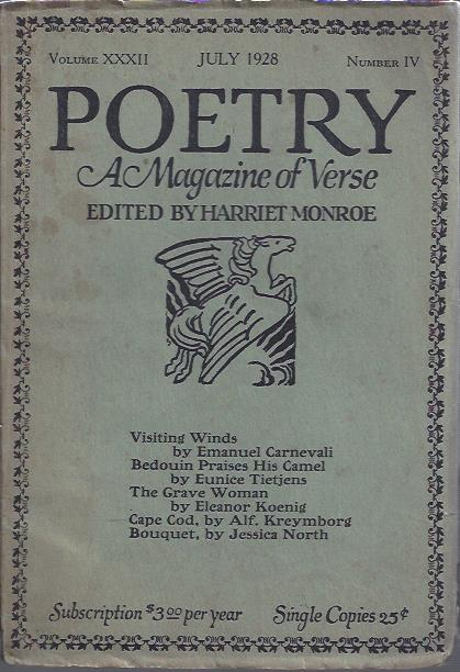 Image for Poetry, a Magazine of Verse July, 1928