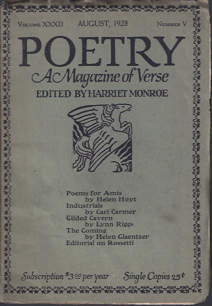 Image for Poetry, a Magazine of Verse August, 1928