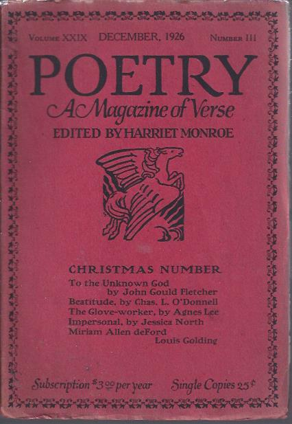 Image for Poetry, a Magazine of Verse December, 1926 : Christmas Number