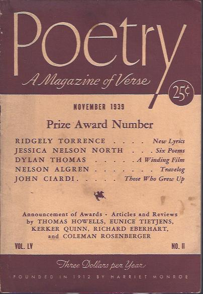 Image for Poetry, a Magazine of Verse November, 1939
