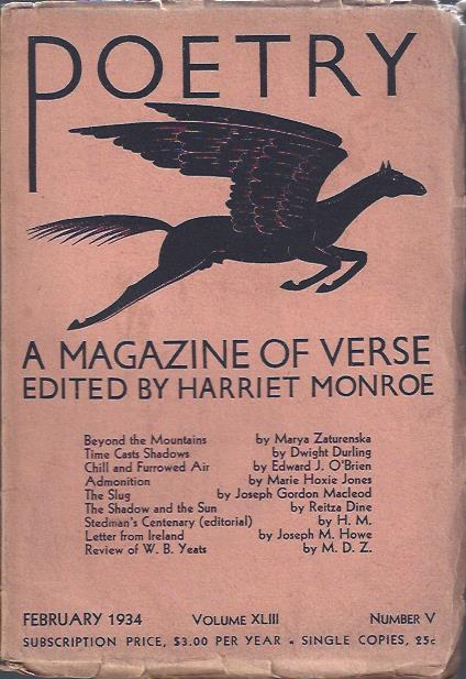 Image for Poetry, a Magazine of Verse February, 1934