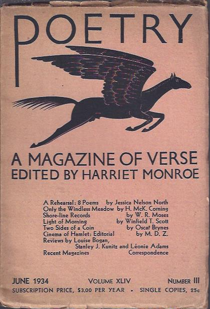 Image for Poetry, a Magazine of Verse June, 1934