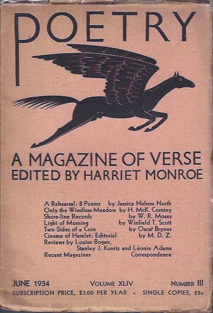 Image for Poetry, a Magazine of Verse July, 1934