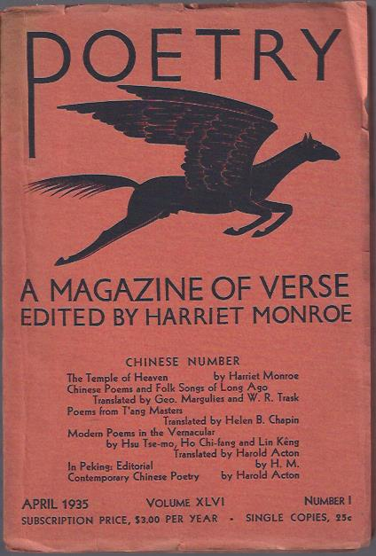 Image for Poetry, a Magazine of Verse April, 1935 :Chinese Number