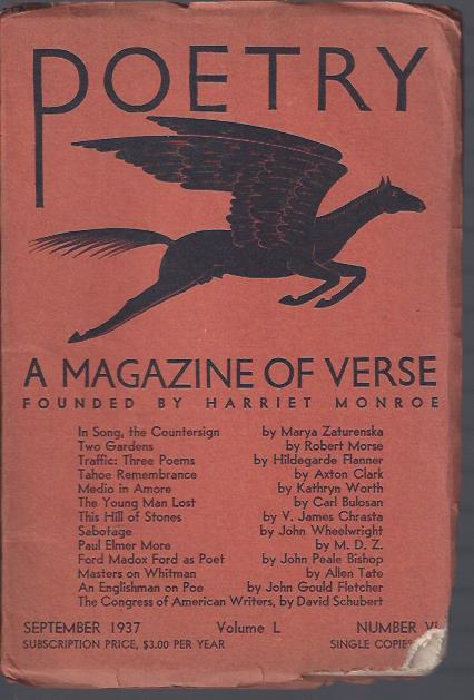 Image for Poetry, a Magazine of Verse September, 1937