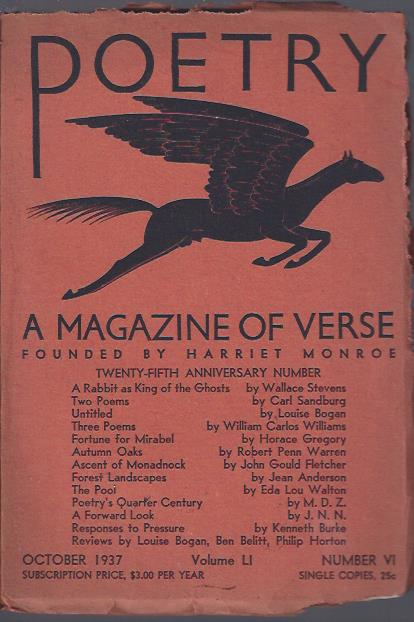 Image for Poetry, a Magazine of Verse October, 1937 : Twenty-Fifth Anniversary Number