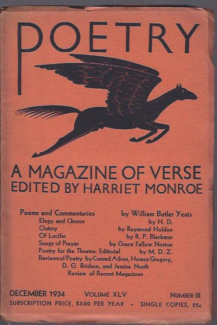 Image for Poetry, a Magazine of Verse December, 1934