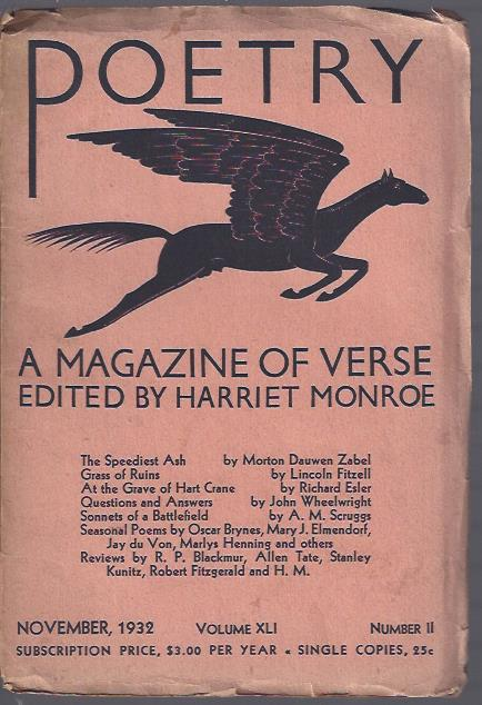 Image for Poetry, a Magazine of Verse November, 1932