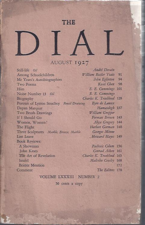 Image for The Dial August, 1927