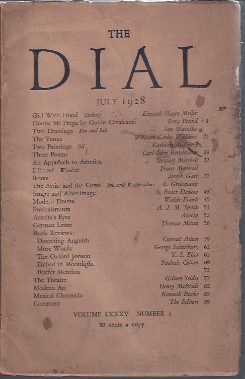 Image for The Dial July, 1928