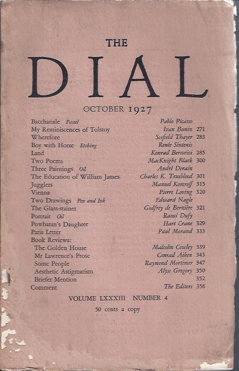 Image for The Dial October, 1927