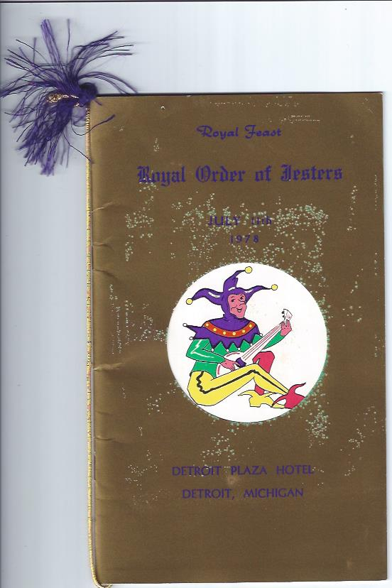 Image for Royal Order of Jesters Royal Feast , Detroit, MI, July 11, 1978 with Indiana Additions