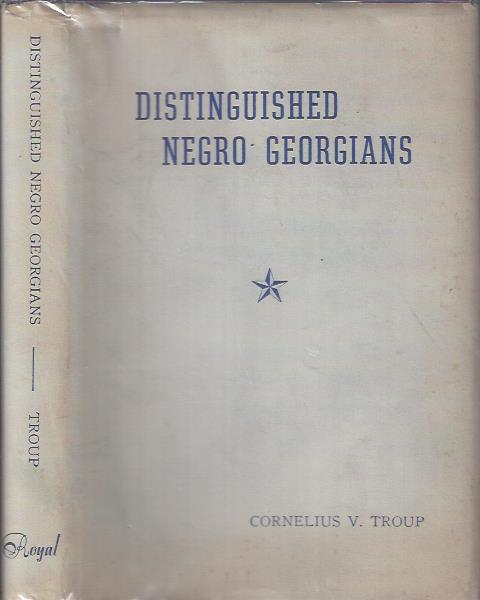 Image for Distinguished Negro Georgians