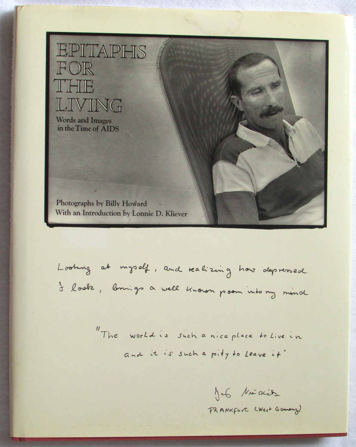 Image for Epitaphs for the Living: Words and Images in the Time of AIDS