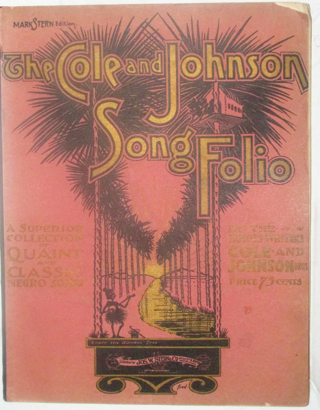 Image for The Cole and Johnson Song Folio