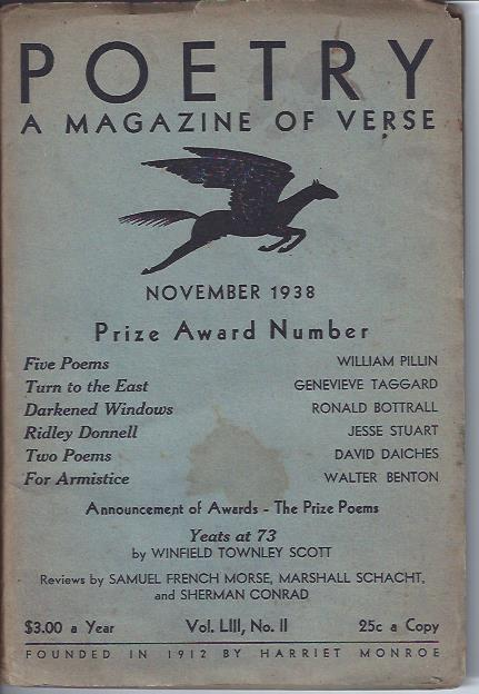 Image for Poetry, a Magazine of Verse November, 1938 : Prize Award Number