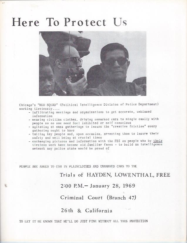 Image for Tom Hayden Handbill / Chicago Red Squad