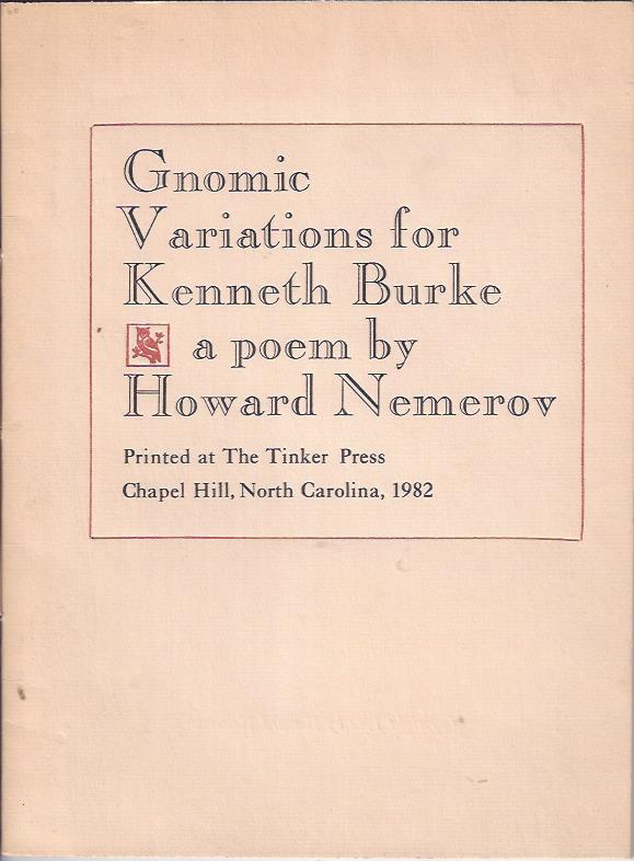 Image for Gnomic Variations for Kenneth Burke, a poem by Howard Nemerov