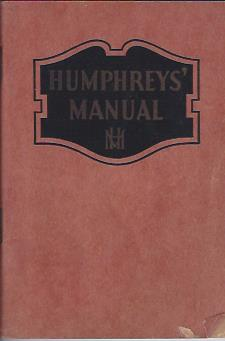 Image for Humphrey's Manual on the Care and Treatment of All Diseases Safe to Treat at Home