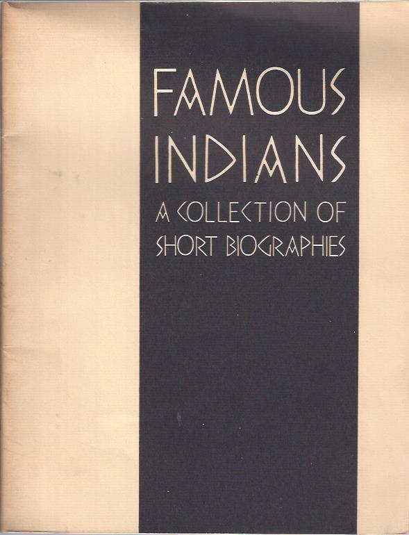 Image for Famous Indians: A Collection of Short Biographies