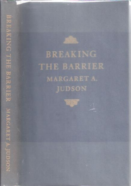 Image for Breaking the Barrier : A Professional Autobiography by a Woman Educator and Historian before the Women's Movement