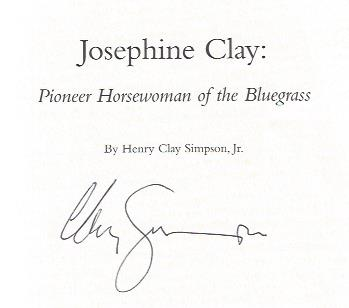 Image for Josephine Clay: Pioneer Horsewoman of the Bluegrass